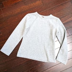 BENSIMON 100% Cotton LS Knit Crew neck Sweater Top